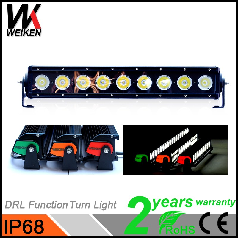 WEIKEN High Quality Car Driving Lamp Bar Cover 90W 12V Slim With Free Laser Logo