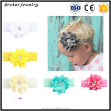 2017 Fashional Baby Headband With Big Lotus Leaf Flower Baby Elastic Hairband The hair band HA-1142