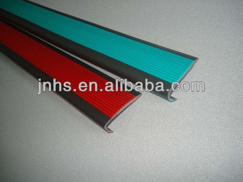 rubber pvc cover anti-slip strip for stairs