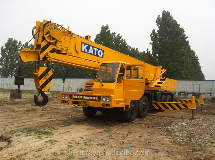 Cheap 35 ton used Kato NK-350E truck mounted crane, 35 ton mobile crane, tyre crane for sale
