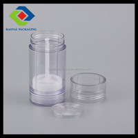 luxury cosmetic AS clear 75ml body deodorant stick container