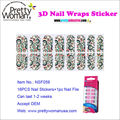 16pcs Nail Transfer Foil Stickers 3D Nail Wraps with Nail File Accept OEM and Third Part Quality Inspection
