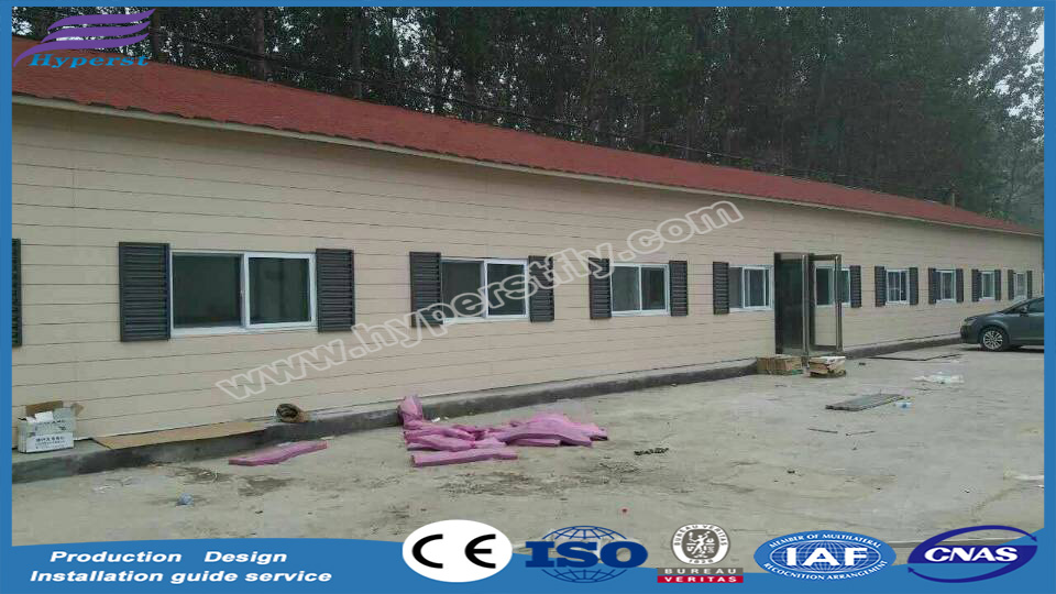 galvanized steel frame modular homes for temporary dormitory or office or warehouse in Africa