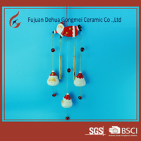 porcelain hanging ornament wind chime christmas gifts