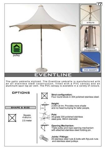 Eventline Outdoor Umbrella