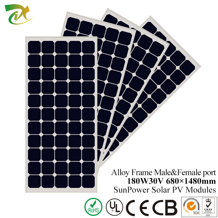 24 volt transparent mono solar panel 200w with high efficiency