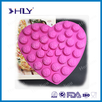 FDA&LFGB approved Romantic rose shaped silicone cake mold