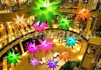 Hot sale inflatable led star light balloon/ hanging led inflatable stars C2028