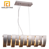 NICE lighting LED strip yellow light source modern pendant lamp color silver chrome aluminum metal chandelier