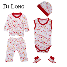 Infant/toddlers Clothing Baby Clothes Set With Hat And Socks