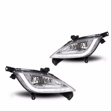 2PCS Car Auto Waterproof LED DRL Daytime Running Light front bumper grille grill Cover For Hyundai I30 2013-2015 12LED