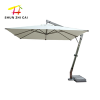 Luxury aluminium parasol hanging outdoor banana umbrella for beach cafe restaurant hotel