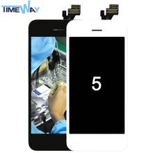 Fast shipping by DHL,original hot selling mobile phone lcd for iphone 5 lcd complete black/white, for iphone 5 lcd touch screen