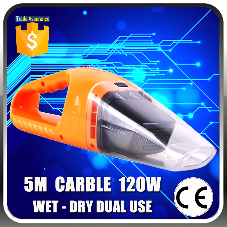Free Shipping DC <strong>12V</strong> Car Vacuum Cleaner Wet And Dry Dual Use Super Suction120W Electric Vacuum Cleaner for Car Wash