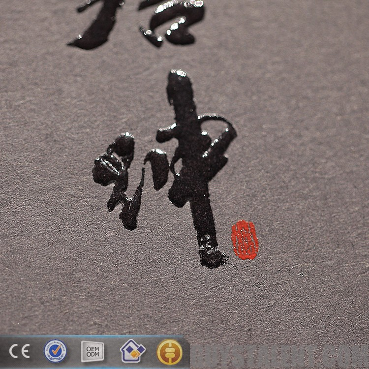 custom embossed logo and spot UV new alibaba china hang tag designs for garment