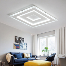 Verllas Ultra-thin Surface Mounted Modern Led Ceiling Lights lamparas de techo Rectangle acrylic Square Ceiling lamp fixtures