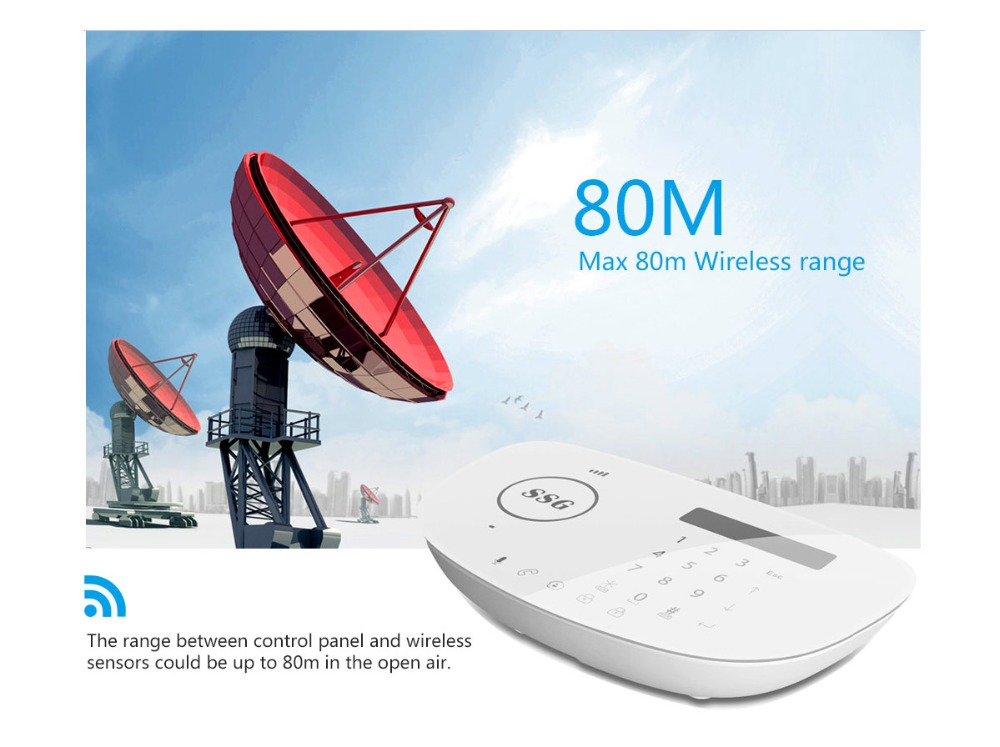 SSG direct supply APP Remote Control Wireless GSM Intelligent security Smart home Security Alarm System GSM +PSTN dual network