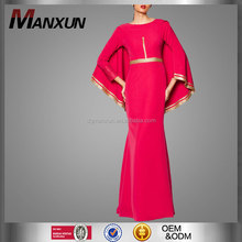 Muslimah wear long dresses for women islamic dinner red long sexy dress islamic dress