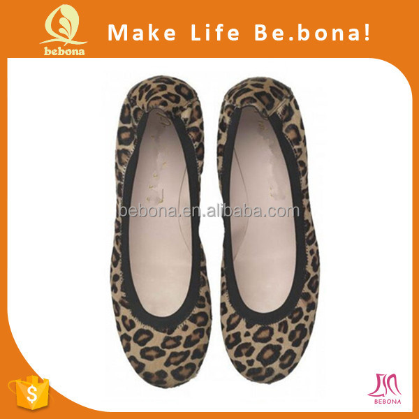 China Lady Large Leopard Flat Shoes Zapato De Mujer Foot Wear
