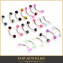 anti tragus piercing Crystal Ball Eyebrow Rings Stainless Steel Ball Barbell Eyebrow Rings Bars Tragus Piercing