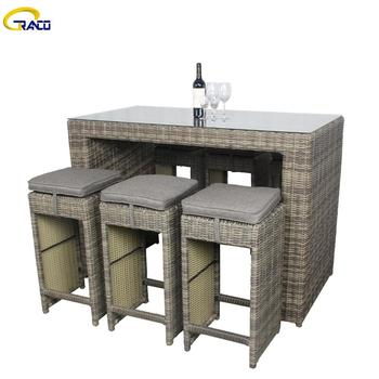 Hot sale garden outdoor dining table set garden rattan dining table set patio furniture garden table set
