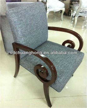 fancy wooden dining chair, restaurant chair,cafe chair with wood armrest for 5 star hotel CH-YZ-280