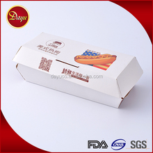 New arrival disposable paper packaging hamburger hot dog box