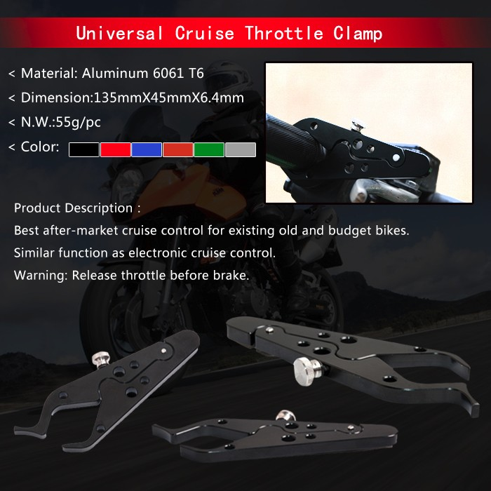 Motorcycle Universal throttle locks Cruise Control with rubber ring