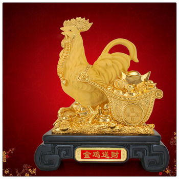 Best home decoration gift polyresin resin rooster 2017 chinese new year gifts