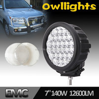 Offroad Accessories Factory Supply 7'' 140w LED Driving Light Round, Waterproof 7inch 140w LED Spotlight for Off Road