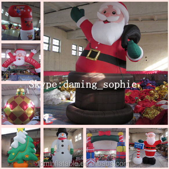 inflatable Christmas decoration Santa with chimmey