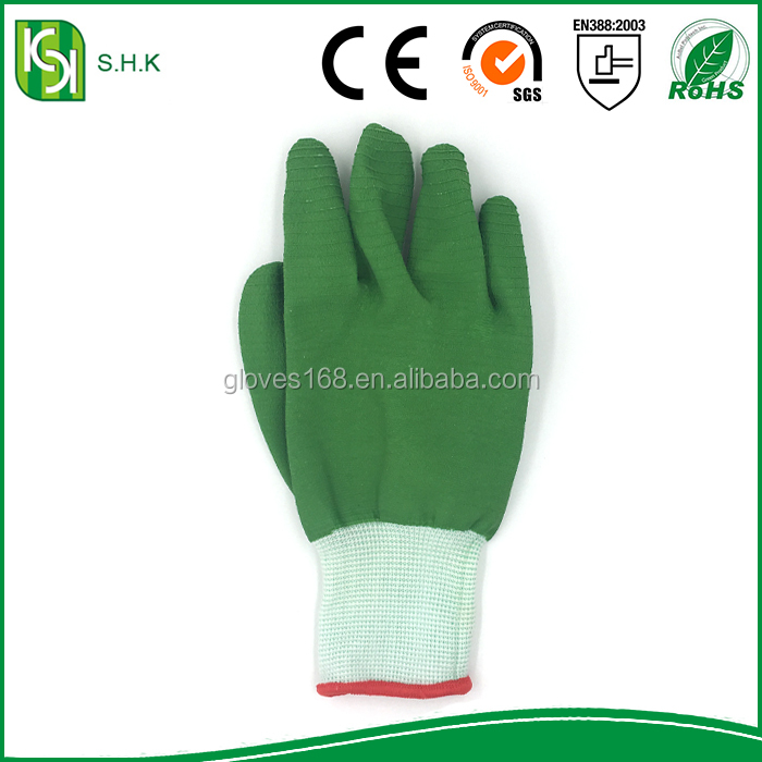 Protective Work Gloves Wholesale Nylon dipped latex thick rubber cord hanging small tractor working gloves