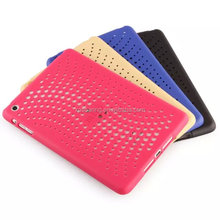 Net design plastic case back cover for ipad mini
