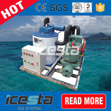 ICESTA saltwater seawater flake ice machine boat for sale from china
