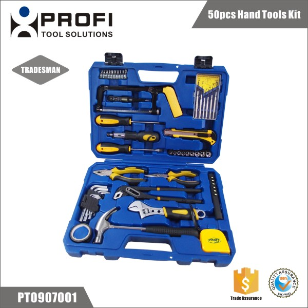 China supplier 50pcs bike hand tool kit in hard storage case