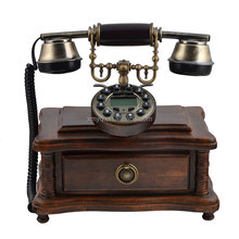 2017 Retro Design Caller ID Phone Fixed, Old Fashioned Phones, Replica Antique Telephone