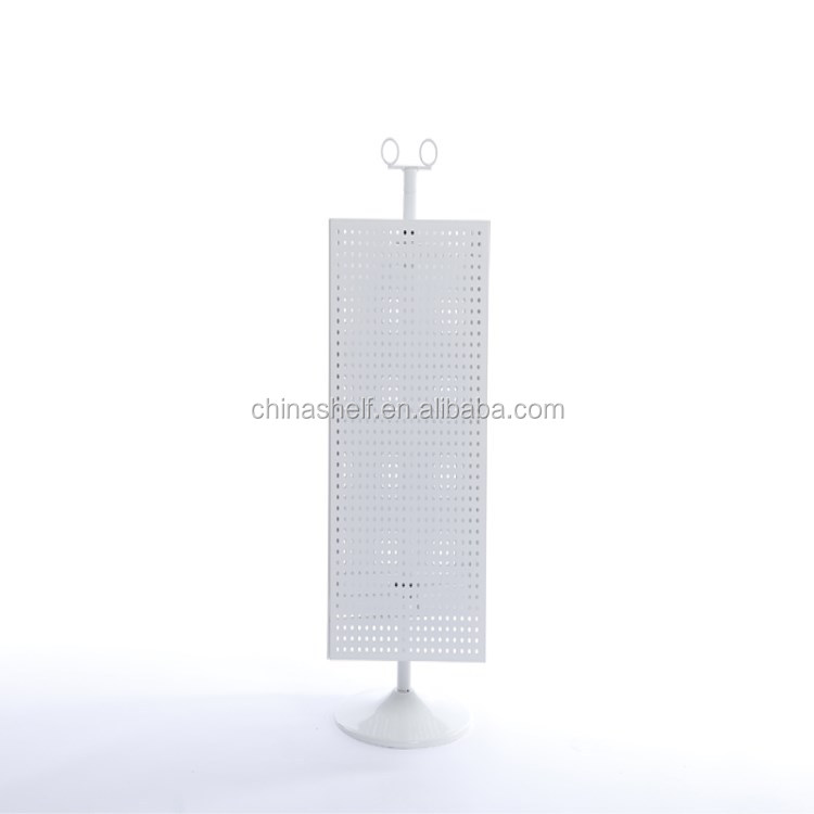 The supermarket convenience store white Mobile phone accessories Iron punch plate display rack