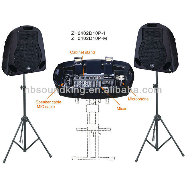 Wireless portable PA speaker system ZH0402