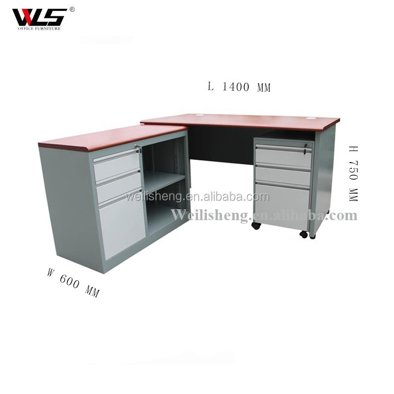 Luoyang WLS High Quality L shape computer table competitive price with extension