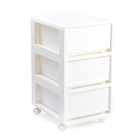 3 Layer Drawer balcony storage cabinet Clothes Plastic Storage Box