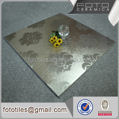 Non slip cheap 3d silver Glazed metallic ceramic porcelain tile price,floor glaze tile,ceramic tile flooring prices