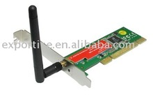 2 PCS 54M Wireless 802.11g PCI Wifi Adapter Lan Card for desktop PC win7 Antenna