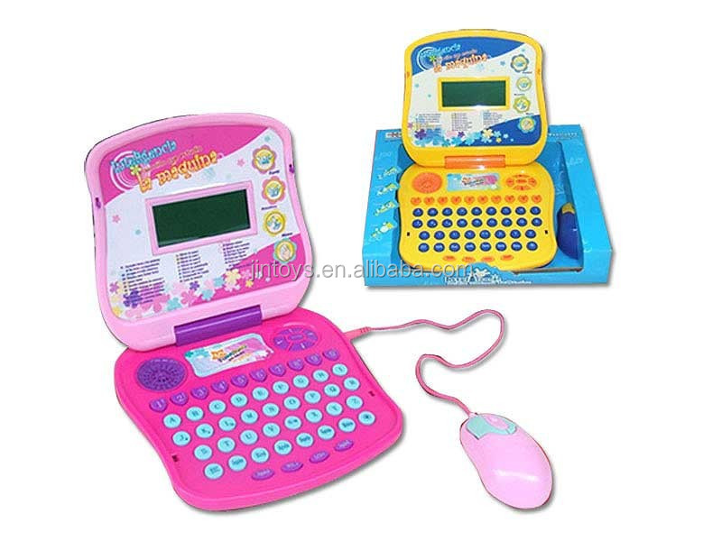 Electric English and Spanish language study computer intelligent toys for kids
