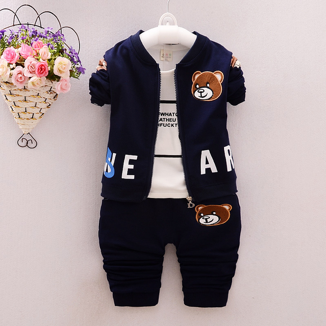 2016 boys 3 pcs clothing set korean comfort clothing children's