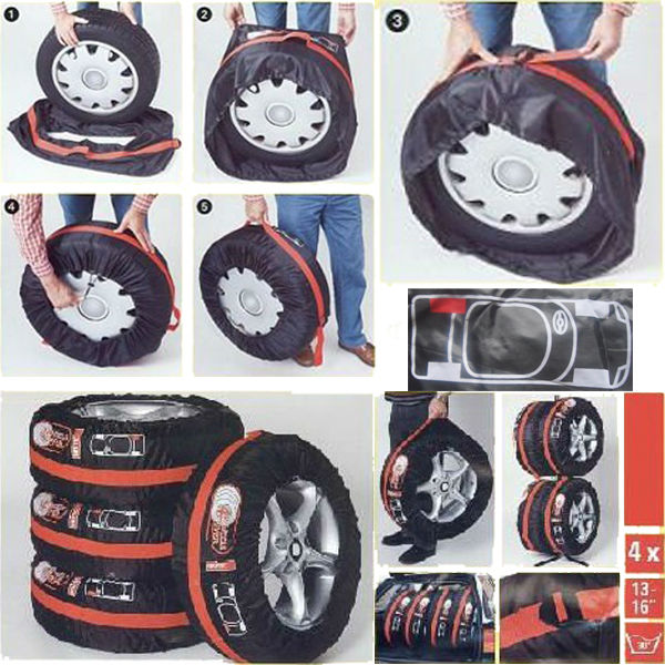 Black Pringting Vinyl Spare Wheel Cover