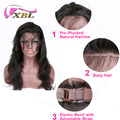 xblhair new arrival mink brazilian hair bundles body wave 360 lace band frontal