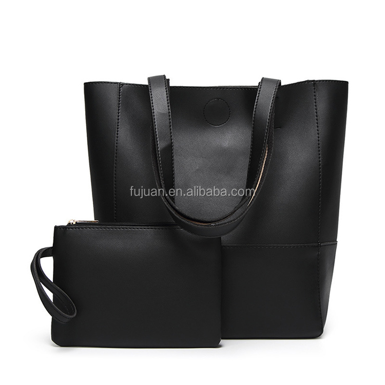 Fashion messenger bags 2 pieces fine car stitching bucket bag color combination tote bag factory for uk australia