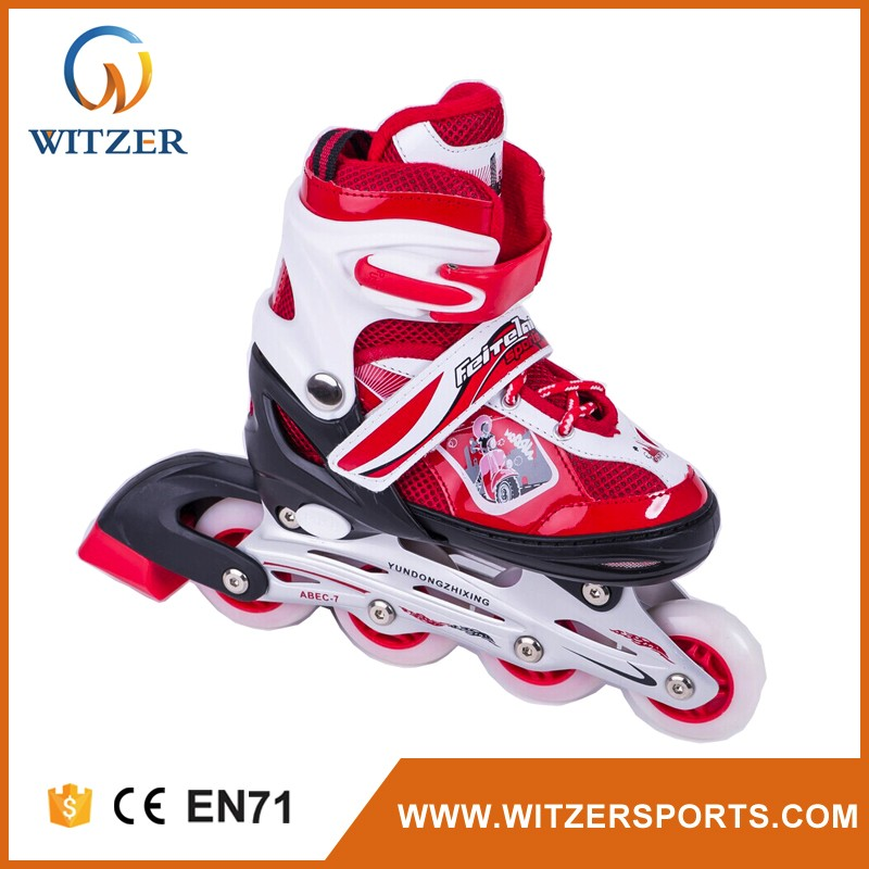 manufacture LED colorful wheels roller skates quads