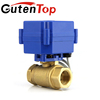 Guetn top 24V/230V 2-way motorized water flow control shut-off actuator ball valve