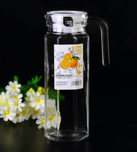 1200ml/1.2L clear octagonal cold water glass jug , glass pitcher with lid